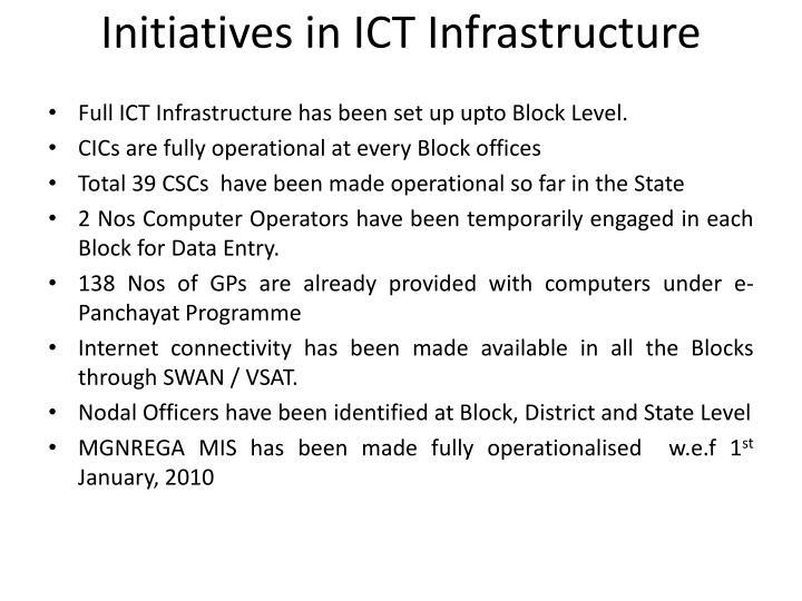 Initiatives in ict infrastructure