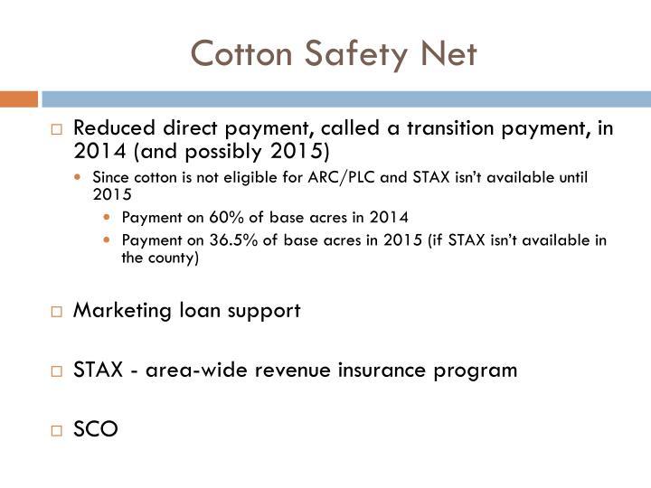 Cotton Safety Net