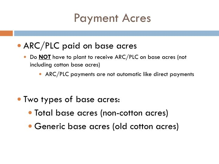 Payment Acres
