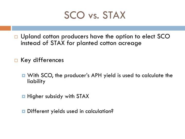 SCO vs. STAX