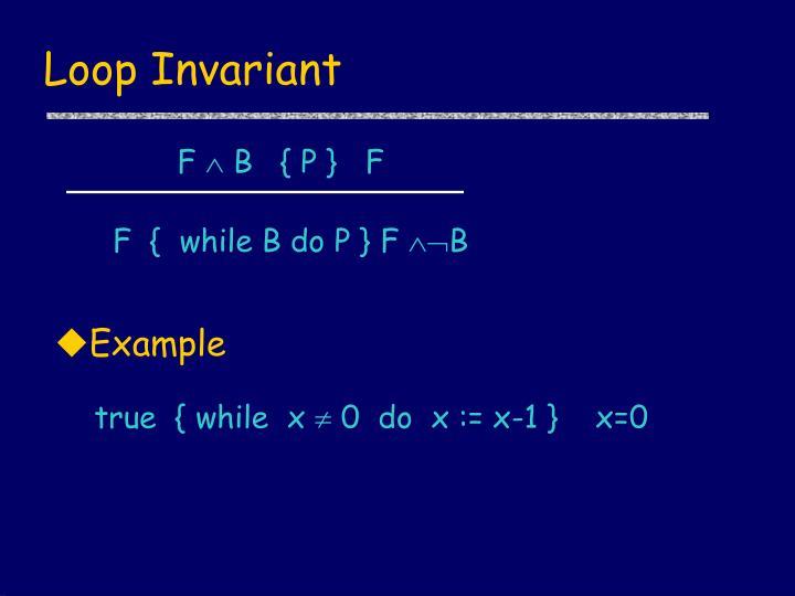 Loop Invariant