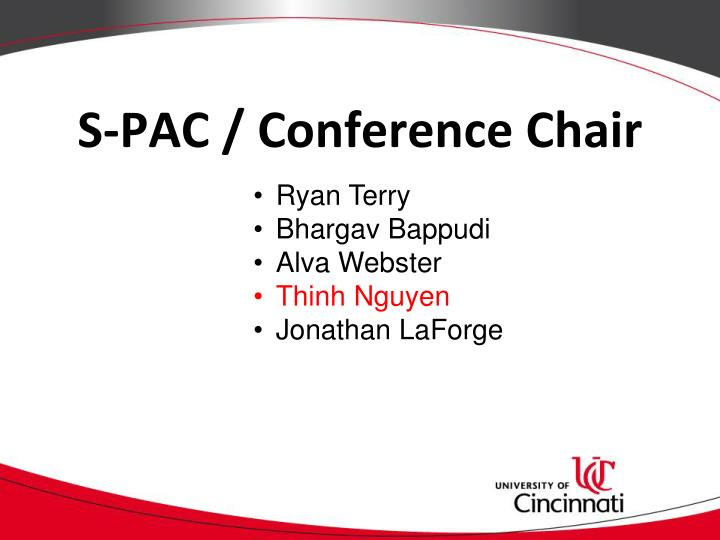 S-PAC / Conference Chair