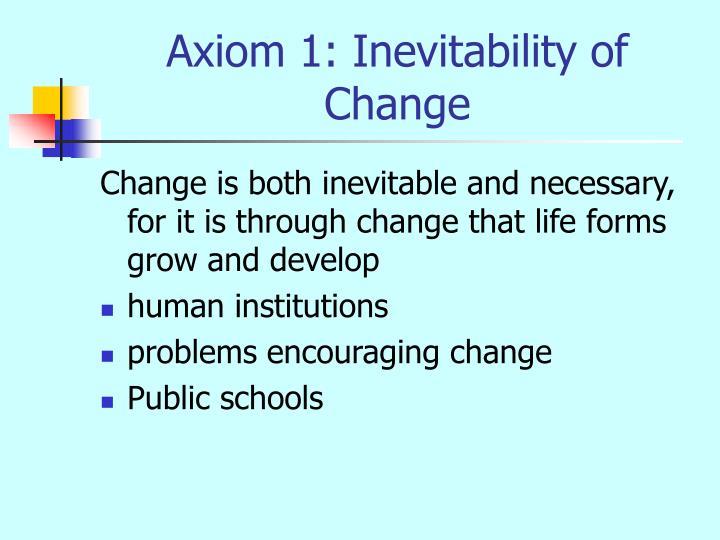 Axiom 1: Inevitability of Change