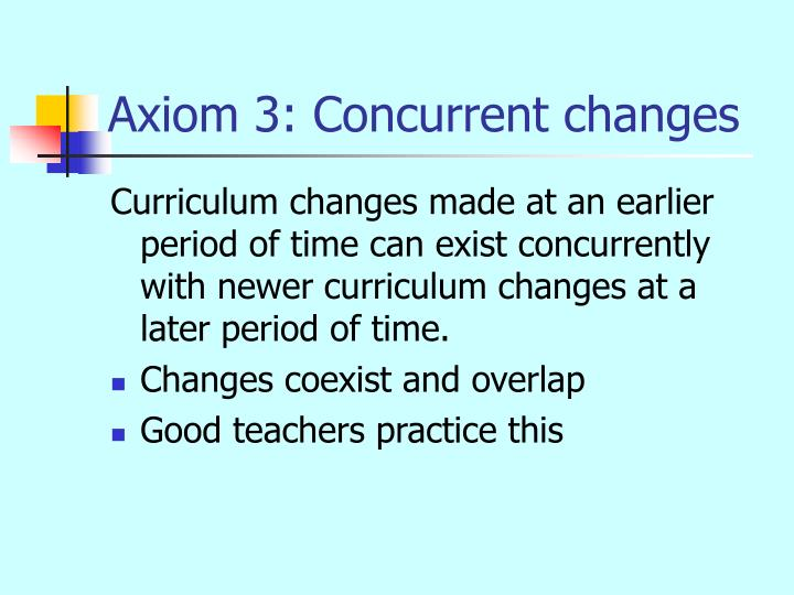 Axiom 3: Concurrent changes