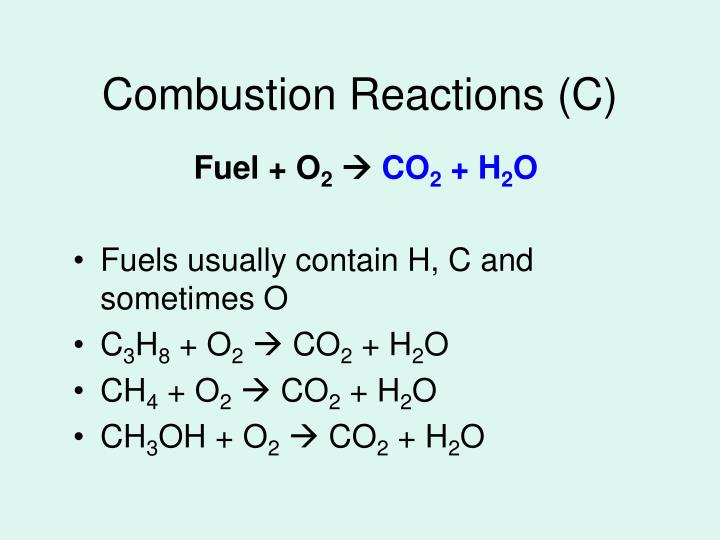 Combustion Reactions (C)