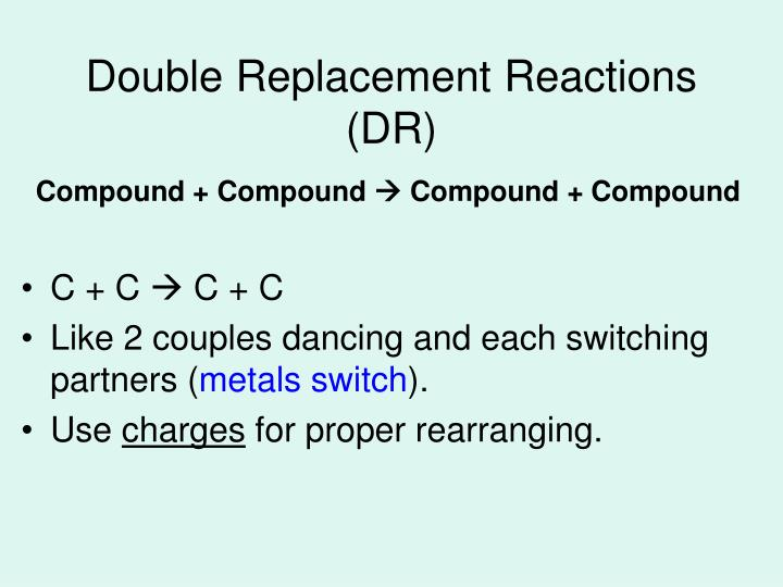 Double Replacement Reactions (DR)