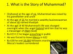 1 what is the story of muhammad