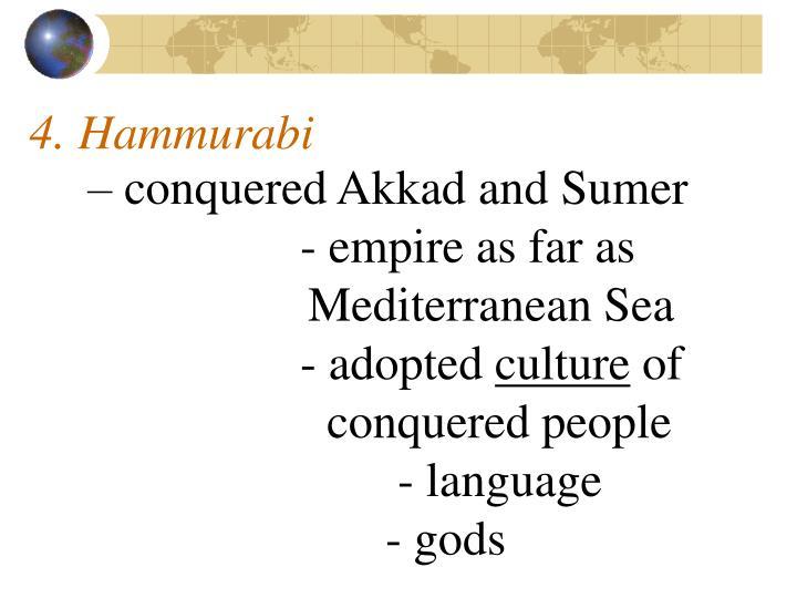 4. Hammurabi