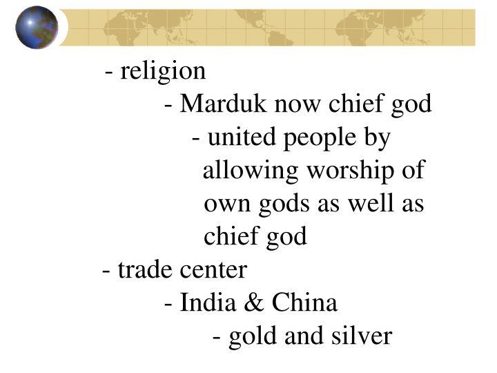 - religion