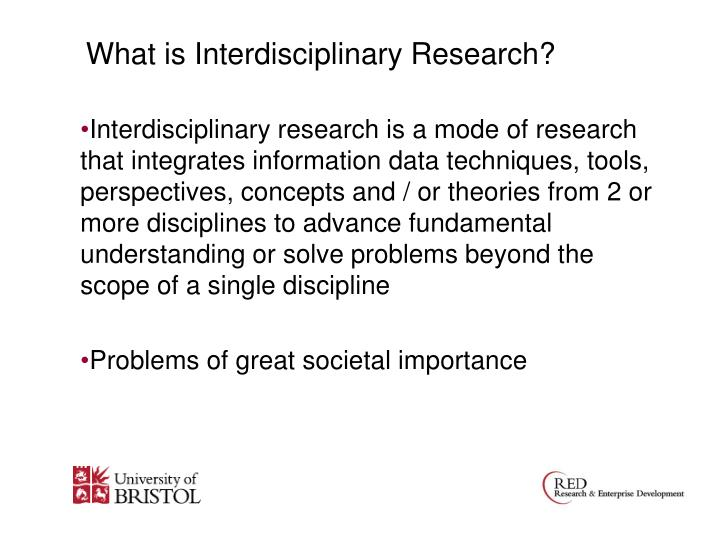 What is Interdisciplinary Research?