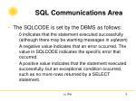 sql communications area4