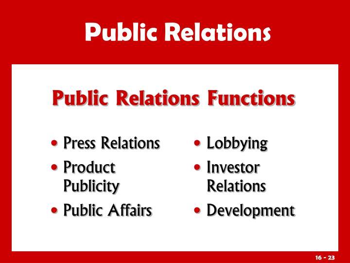Press Relations