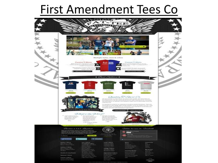 First amendment tees co