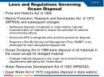 laws and regulations governing ocean disposal