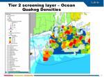tier 2 screening layer ocean quahog densities