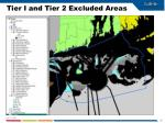tier i and tier 2 excluded areas