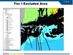 tier i excluded area