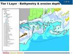 tier i layer bathymetry erosion depth