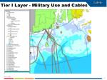 tier i layer military use and cables