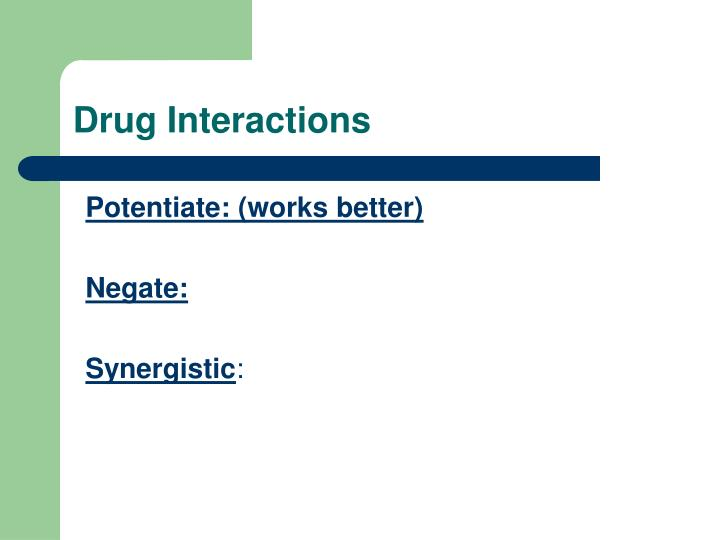 Drug Interactions
