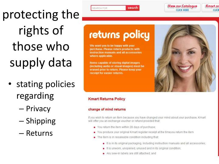 protecting the rights of those who supply data