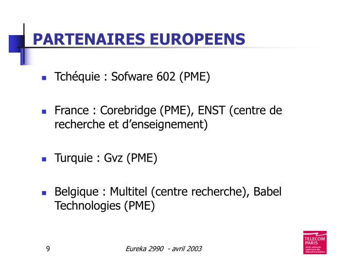 PARTENAIRES EUROPEENS