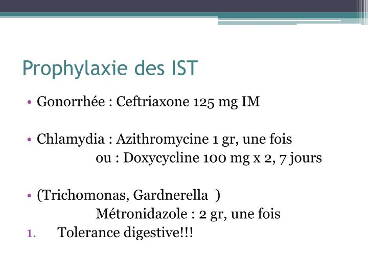 Prophylaxie des IST