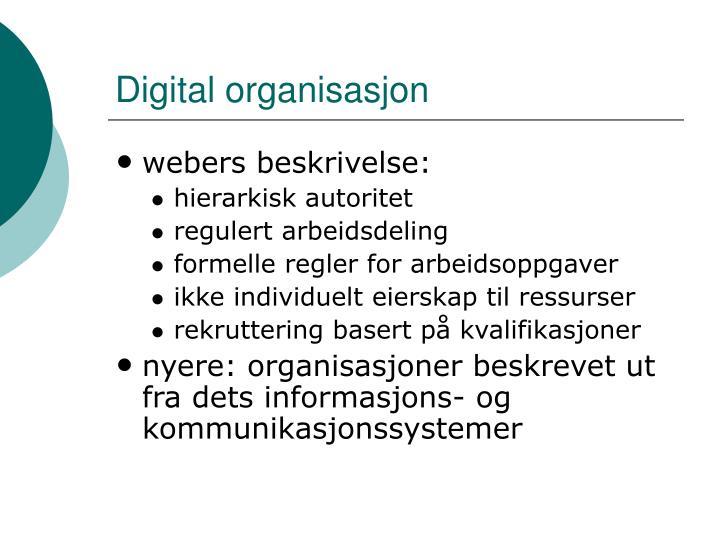 Digital organisasjon