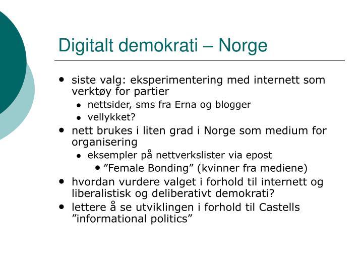 Digitalt demokrati – Norge