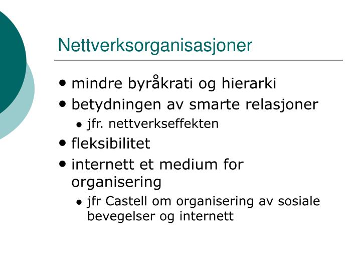 Nettverksorganisasjoner