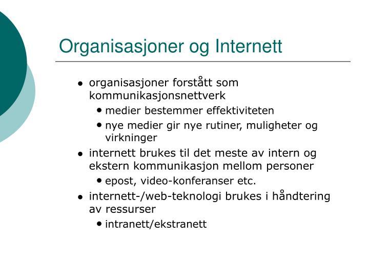 Organisasjoner og Internett