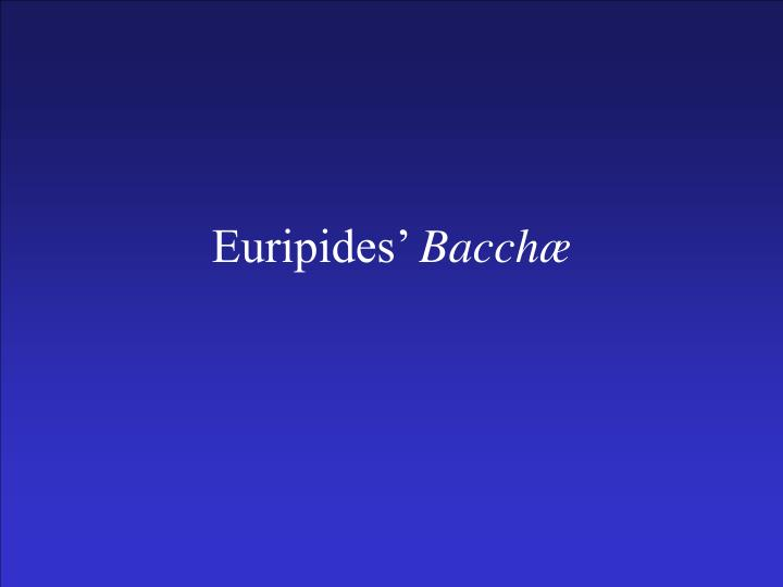 euripides bacch n.