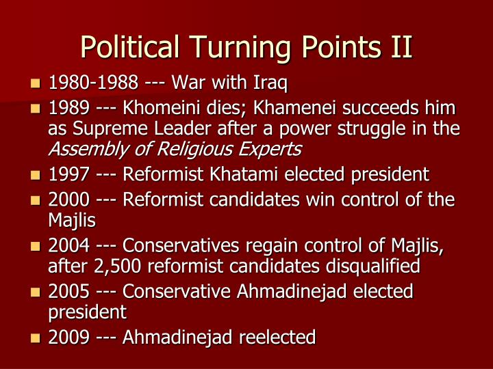 Political Turning Points II