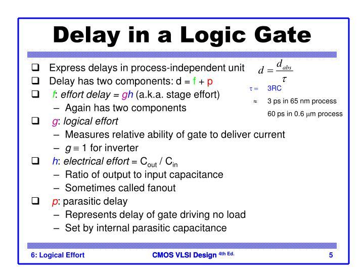 Delay in a Logic Gate