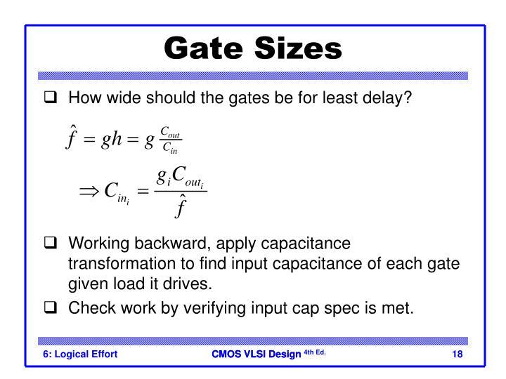 Gate Sizes