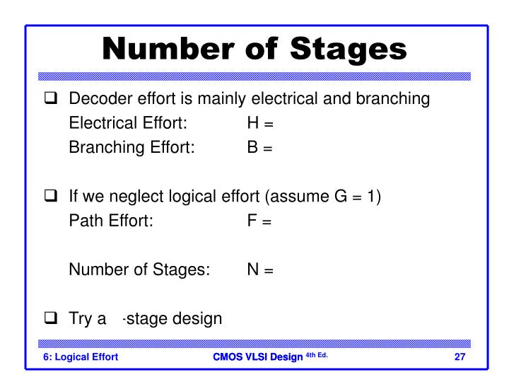 Number of Stages