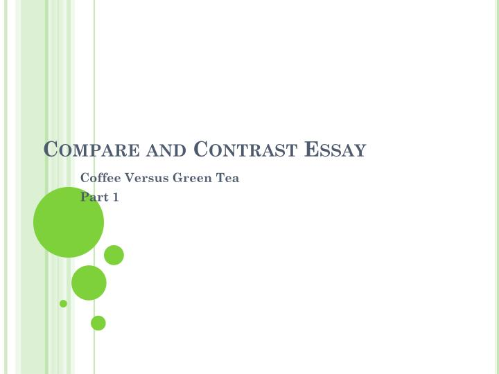 comparison contrast essay powerpoint presentation