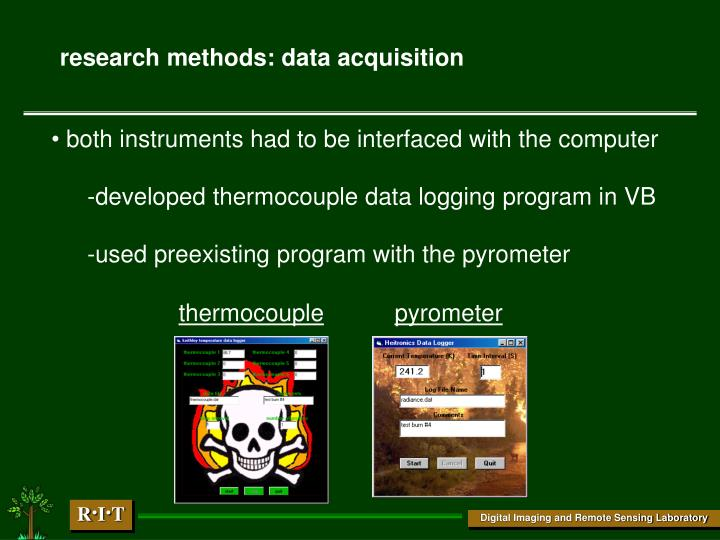 research methods: data acquisition