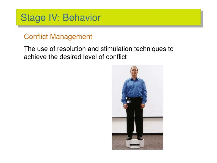 the stages of conflict management