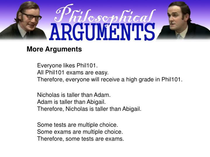 More Arguments