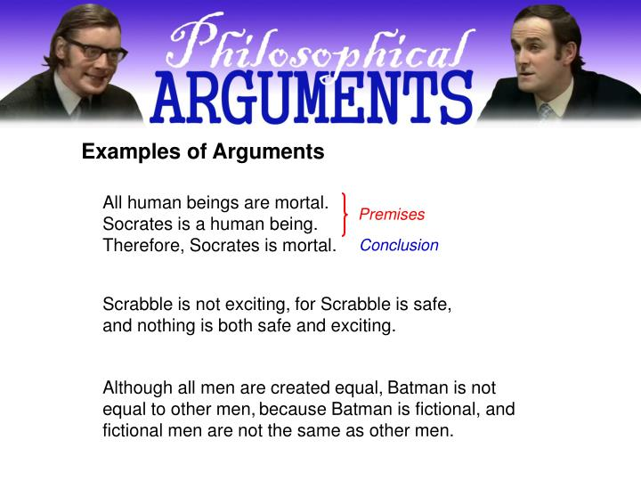 Examples of Arguments