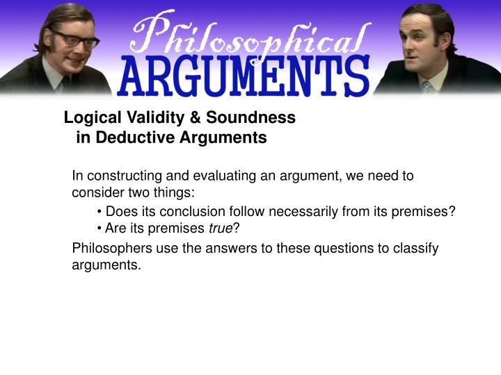 Logical Validity & Soundness