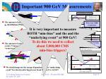 important 900 gev measurements