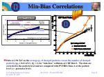 min bias correlations