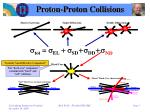 proton proton collisions