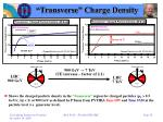 transverse charge density