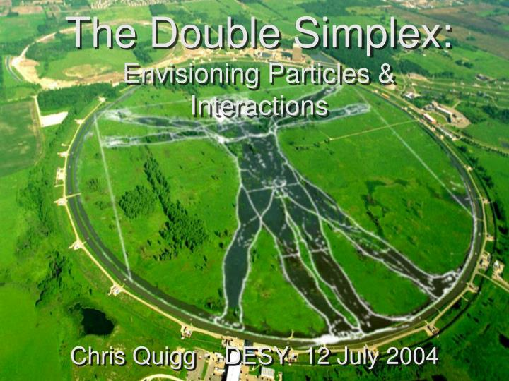 The Double Simplex: