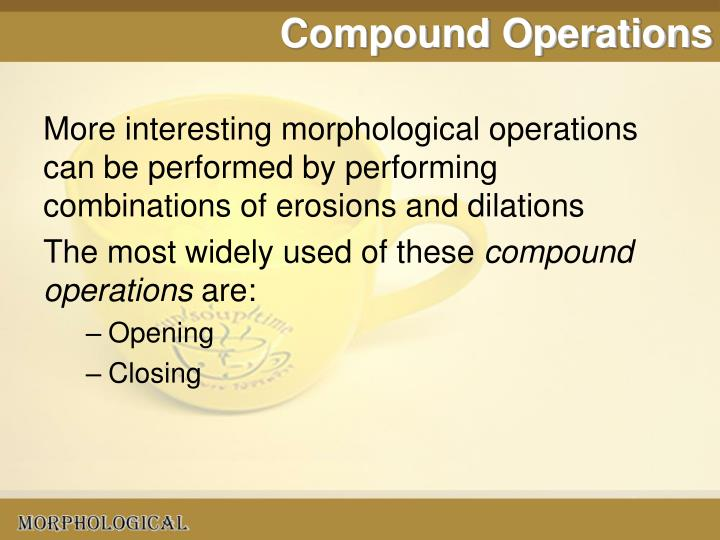 Compound Operations