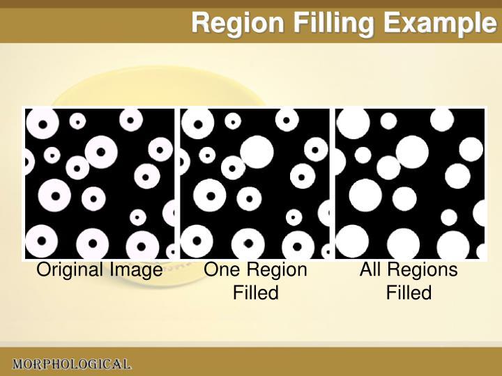 Region Filling Example