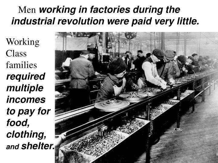 an introduction to the many events during the industrial revolution The industrial revolution brought several the rise in industrial child labor was extremely common during the industrial revolution as the children.